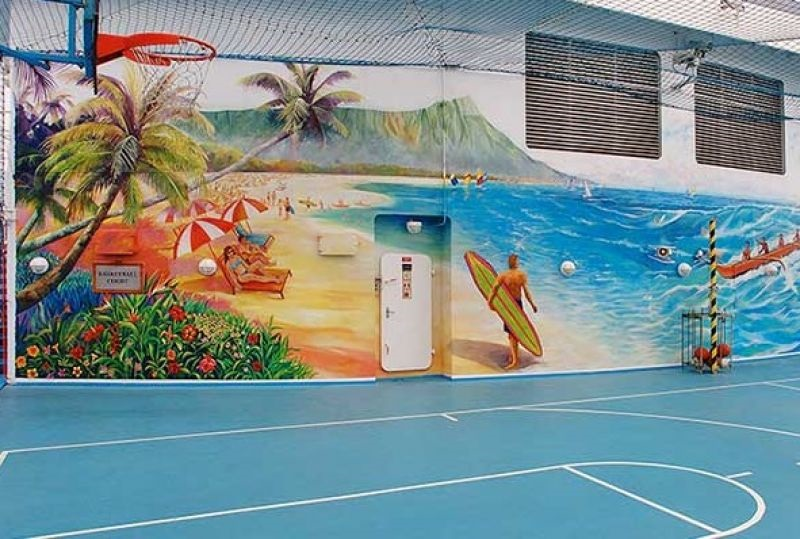 Basketball/Volleyball Court